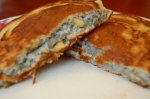 Blue Cornmeal Pancakes with Pinola Nuts