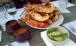 Baja lobster at Villa Ortegas restaurant Puerto Nuevo