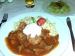 Veal Paprikash with Cucumber Salad