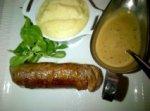 Andouillette at Brasserie Balzar