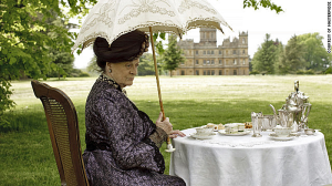 The Dowager Countess at Tea Time