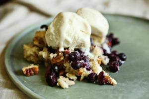 So Easy Blueberry Pecan Crunch