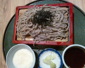 Cold Soba With Grated Yam and Dipping Sauce