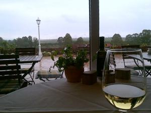 View from lunch at Herdade do Grous Winery