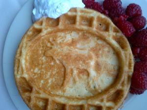 Moose Motif Waffles