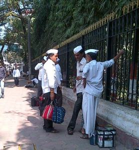 Dabbawallas Exchanging Dabbas